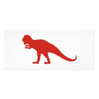 Red Dinosaur Rack Card