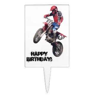 Red Dirt Bike Cake Topper