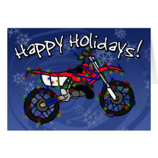 Red Dirt Bike Christmas Card