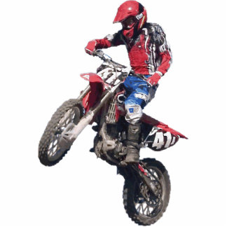 Red Dirt Bike Cutout