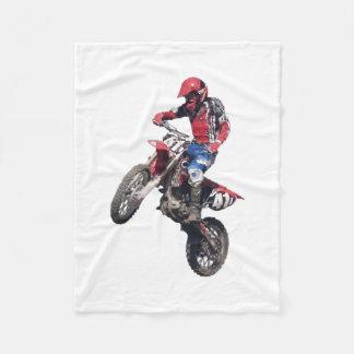 Red Dirt Bike Fleece Blanket