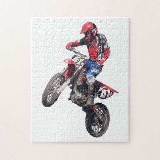 Red Dirt Bike Jigsaw Puzzle