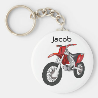 Red Dirt Bike Motorcycle Keychain