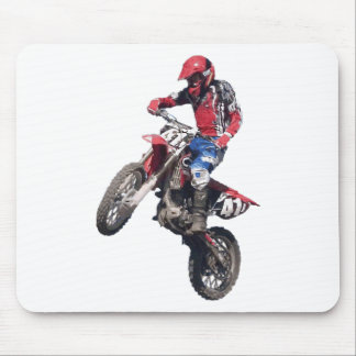 Red Dirt Bike Mouse Pad