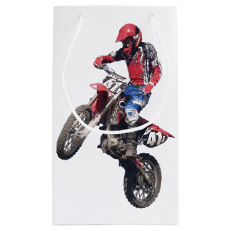 Red Dirt Bike Small Gift Bag