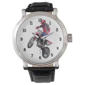 Red Dirt Bike Wristwatch