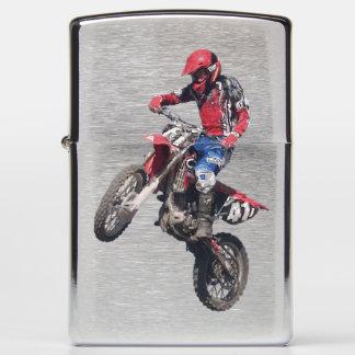 Red Dirt Bike Zippo Lighter