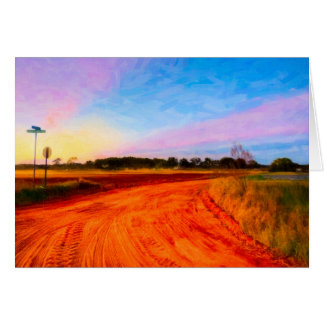 Red Dirt Roads In A Georgia Landscape Greeting Card
