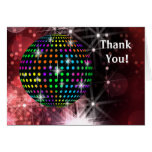 Red Disco Ball Thank You Cards Note Card