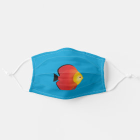 Red Discus Tropical Fish Cloth Face Mask