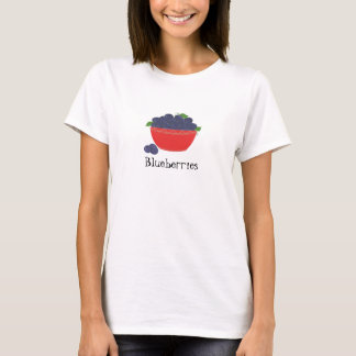 Red Dish of Blueberries T-Shirt
