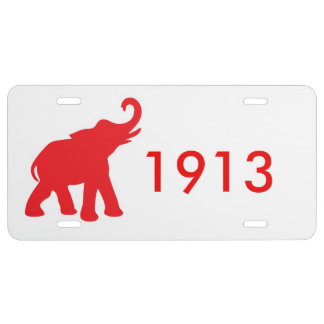 Red Diva Elephant Love License Plate