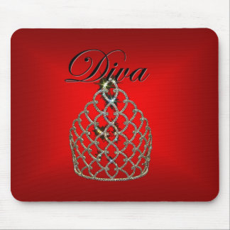 Red Diva Mouse Pad