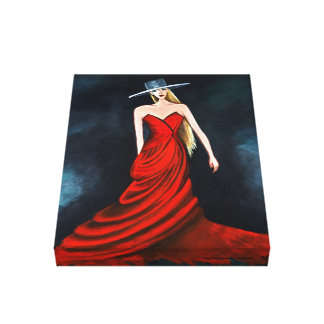 Red Diva Painting Unique Flamenco Dancer Fine Art Gallery Wrapped Canvas