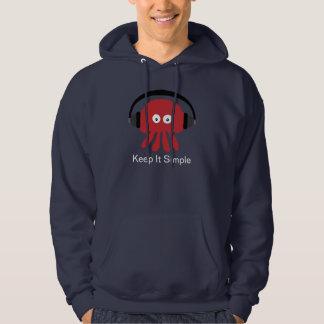 Red DJ Jellyfish Keep It Simple Navy Hoody