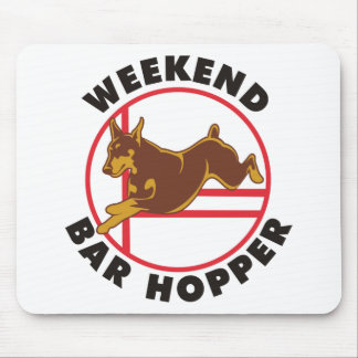 Red Doberman Agility Weekend Bar Hopper Mouse Pad