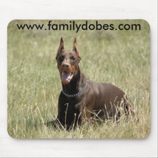 Red Doberman mouse pad