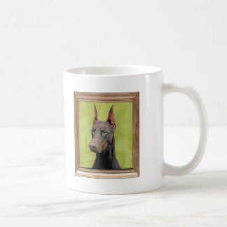 Red Doberman Pinscher Painting Classic White Coffee Mug