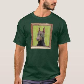 Red Doberman Pinscher Painting T-Shirt