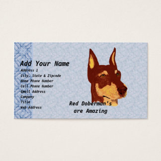Red Doberman Pinschers are Amazing Business Card