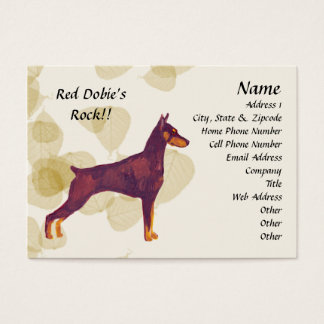 Red Doberman Pinschers Rock!! Business Card