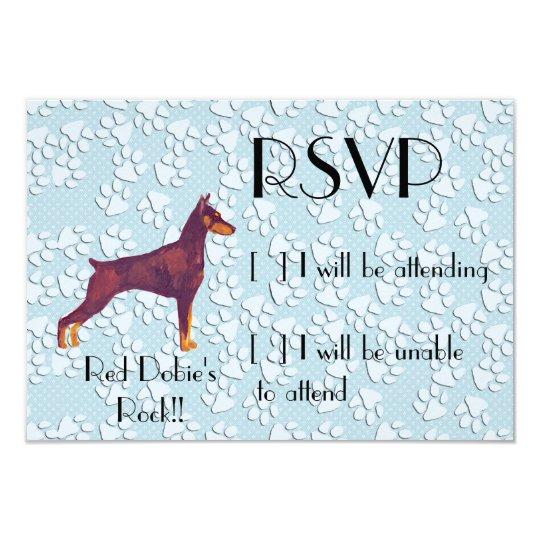 Red Doberman Pinschers Rock!! Card