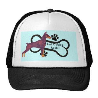 Red Doberman Pinschers Rock!! Hats