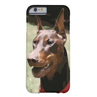 Red Doberman Potrait (v9-2) Barely There iPhone 6 Case