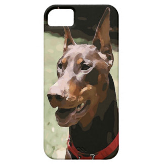 Red Doberman Potrait (v9-2) iPhone 5 Covers