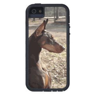 Red Doberman Potrait (v9-2) iPhone SE/5/5s Case