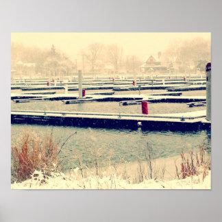 Red Docks Poster