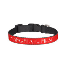 Red Dog Collar Personalized