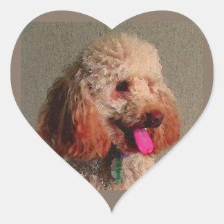 red dog of zoar heart sticker