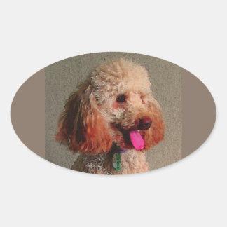 red dog of zoar oval sticker
