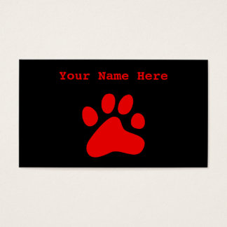 Red Dog Paw Business Card