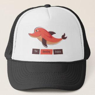 Red Dolphin Trucker Hat