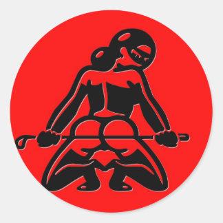 Red Dominatrix Classic Round Sticker
