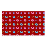 Red donut pattern business card templates