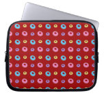 Red donut pattern laptop sleeves