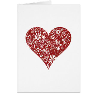 Red Doodle Heart Cards