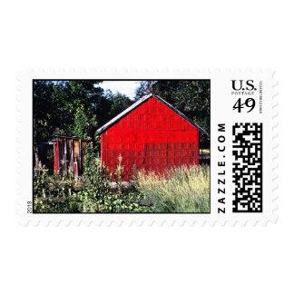 REd Door at Wagon Mound Postage Stamp