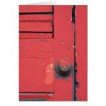 Red Door Blank Greeting Card