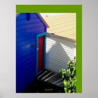 Red Door Blue Poster