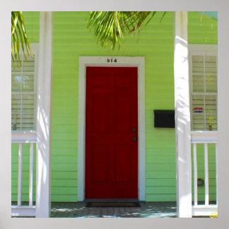 """""""Red Door"""" Doors of Key West Poster"""