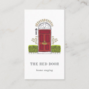 Home staging business cards templates zazzle red door home staging or interior design business card colourmoves