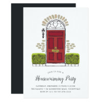 Red Door Housewarming Party Invitation