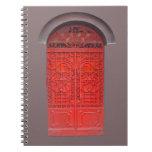 Red Door in Alley Spiral Notebooks
