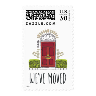 Red Door Moving Announcement Postage