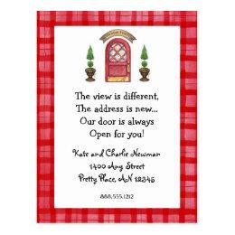 Doors always open gifts on zazzle red door new address postcard stopboris Choice Image