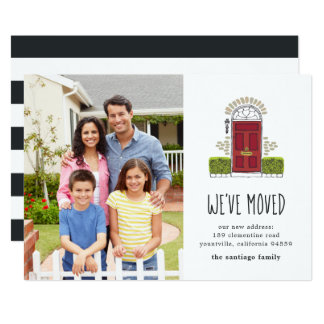 Red Door | Photo Moving Announcement